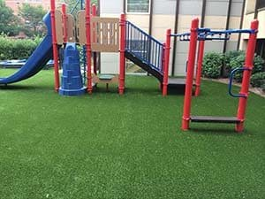 synthetic grass for playground