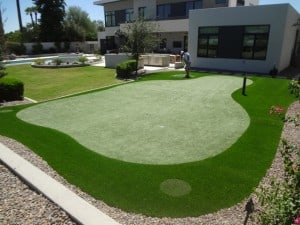 backyard private putting green