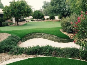 Peter Kostis backyard putting green