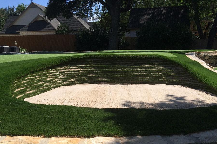 Residential Artificial Turf Golf Putting Green Bunker