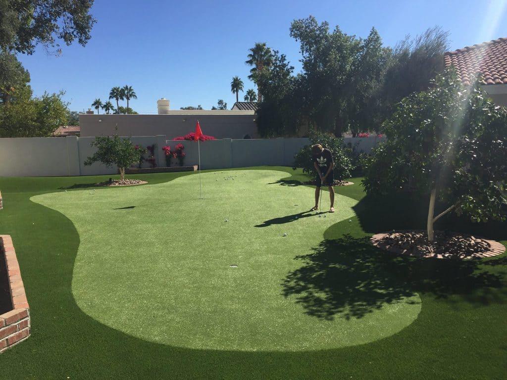 Backyard Golf Green With Artificial Grass