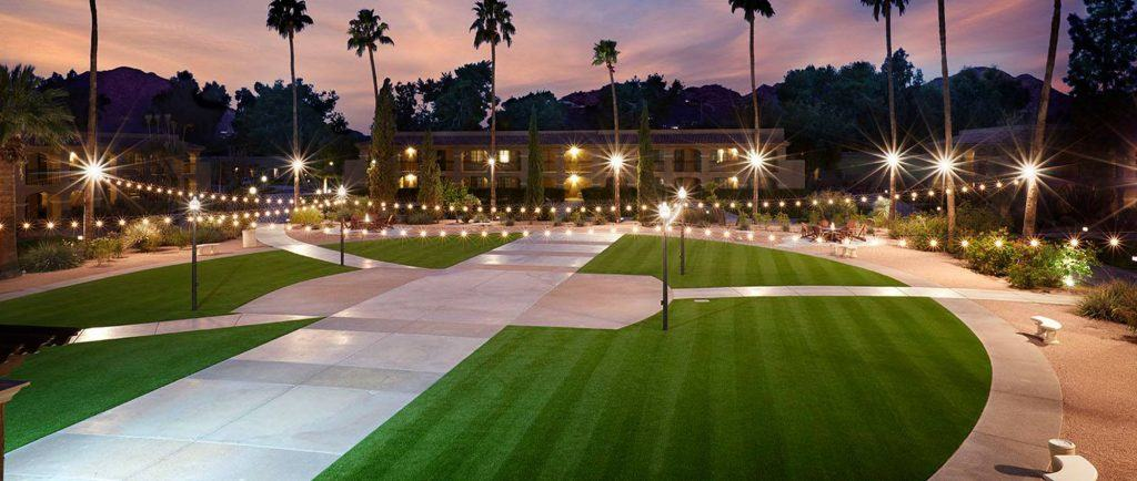 Hotel Artificial Grass Installation