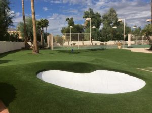 backyard putting green-arizona