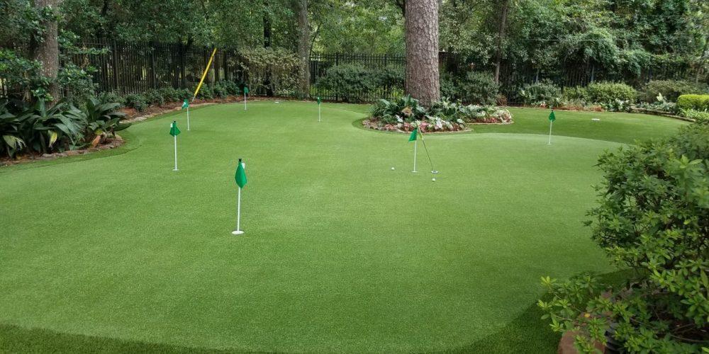 custom private golf green