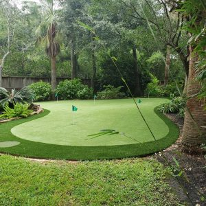 private backyard putting green design